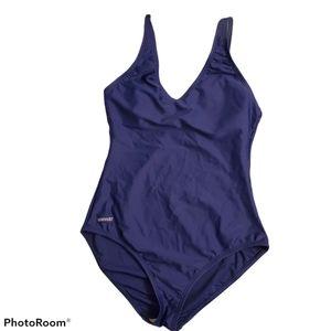 Speedo Navy blue one piece swimsuit size 12